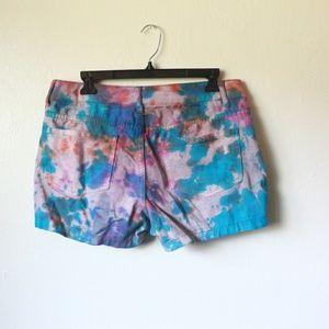 Faded Glory Jean Tie Dye shorts size 8
